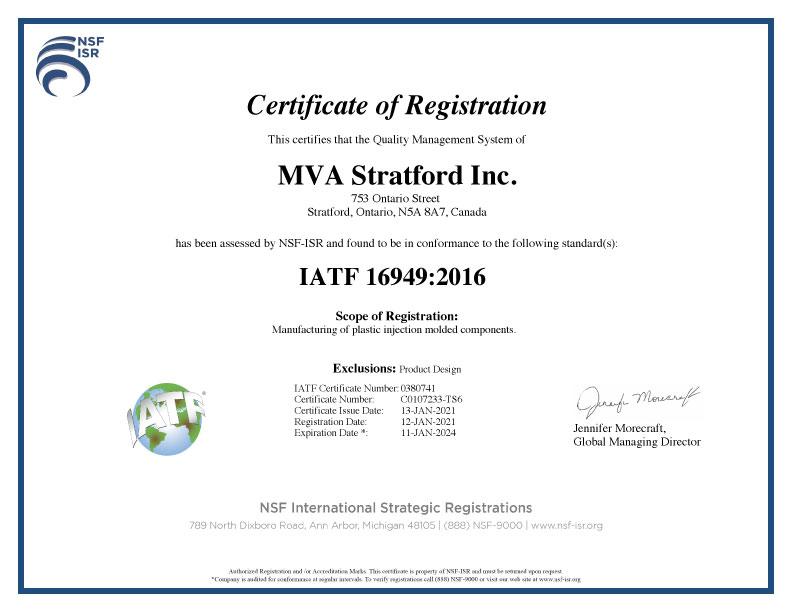 IATF 16949 Registration
